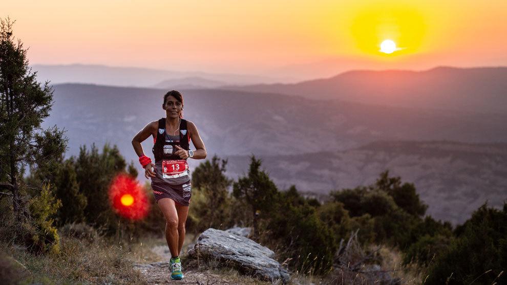 Gemma Arenas avanza a buen ritmo en el ultra trail Guara Somontano.