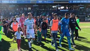 Boselli y Alfonso Blanco, previo al encuentro entre León y Pachuca.