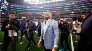 Conor McGregor fue el invitado de honor en el partido.