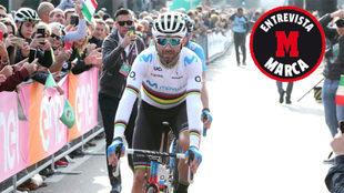 Alejandro Valverde, al término de la clásica de Lombardía, el...