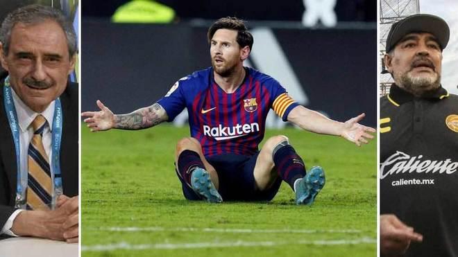Maradona: It's useless making a leader of Messi