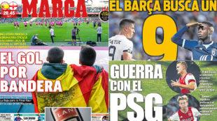 A war between Barcelona and PSG for De Ligt and De Jong...