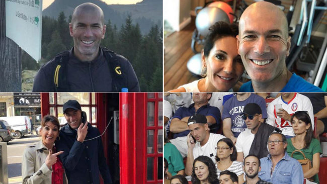 Zinedine Zidane enjoying life away from football