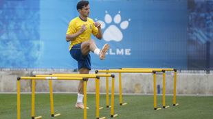 Piatti se entrena en la Ciudad Deportiva.