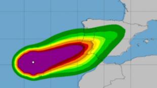 El ciclón Leslie llega a España tras causar destrozos en Portugal