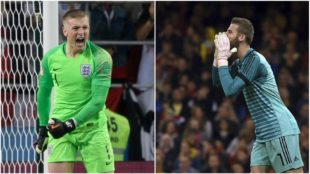 Jordan Pickford and David De Gea