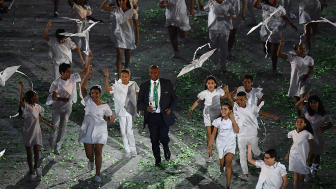 Kipchoge Keino, durante la inauguración de los Juegos de Río
