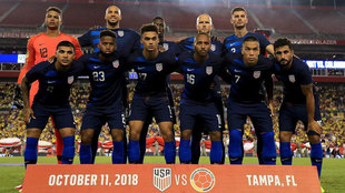 The United States National Team lines up during an International...
