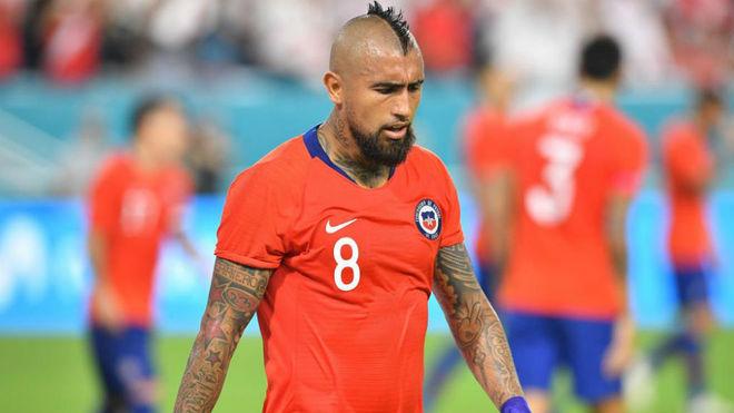 Arturo Vidal, en el duelo amistoso ante Perú.