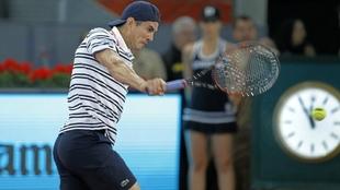 Guillermo García López, en un partido del Madrid Open 2016.