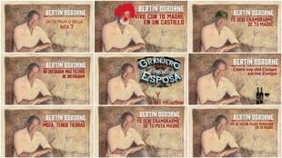 Recreaciones de la portada del nuevo disco de Bertín Osborne