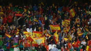 Aspecto del Villamarín en el España vs Inglaterra