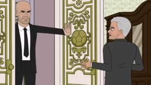 El cara a cara de Zidane y Mourinho en 'This is the...