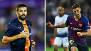 Gerard Pique and Clement Lenglet