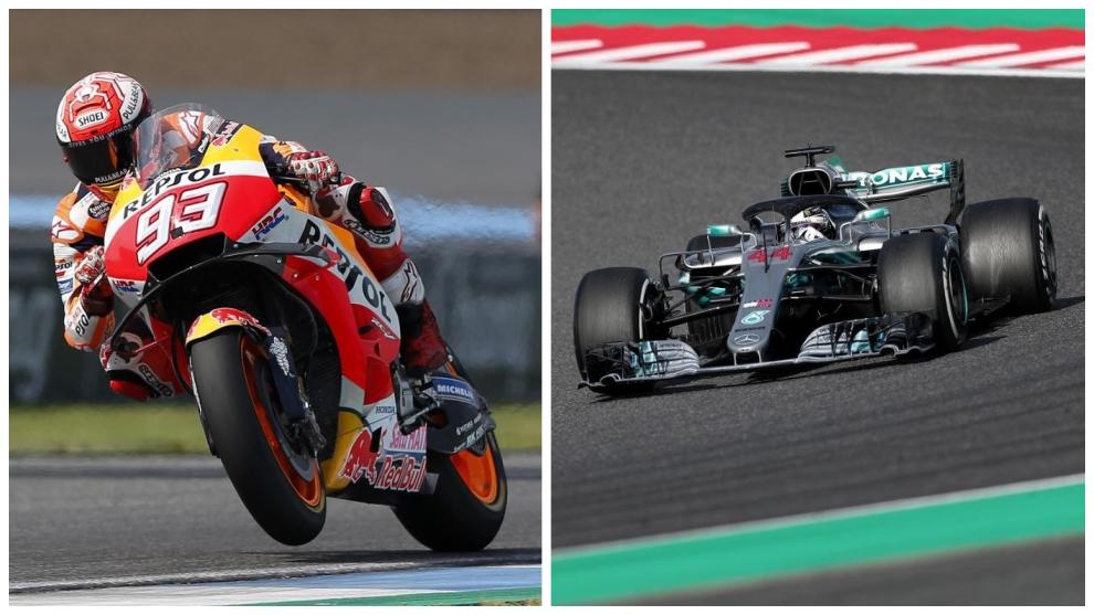 Marc Márquez y Lewis Hamilton