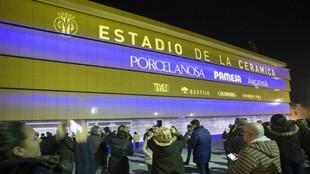 Imagen del estadio de la Cerámica con la nueva fachada.