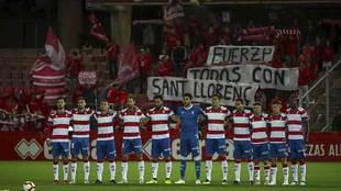 Homenaje a  las victimas de Sant-Llorenc en el minuto de silencio en...