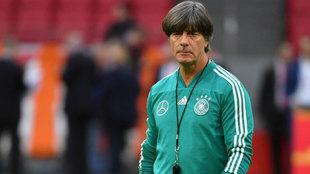 Joachim Löw en un entrenamiento con la selección de Alemania.