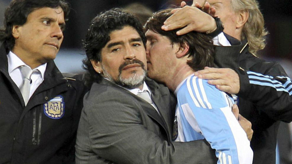 Maradona and Messi.