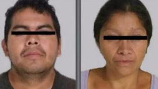 Imagen del monstruo de Ecatepec y sy esposa y cómplice, distribuida...