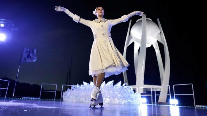 Yuna Kim encendió el pebetero en la ceremonia de apertura de los...