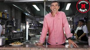 Juan Ramón López Muñiz posa para MARCA antes de la entrevista