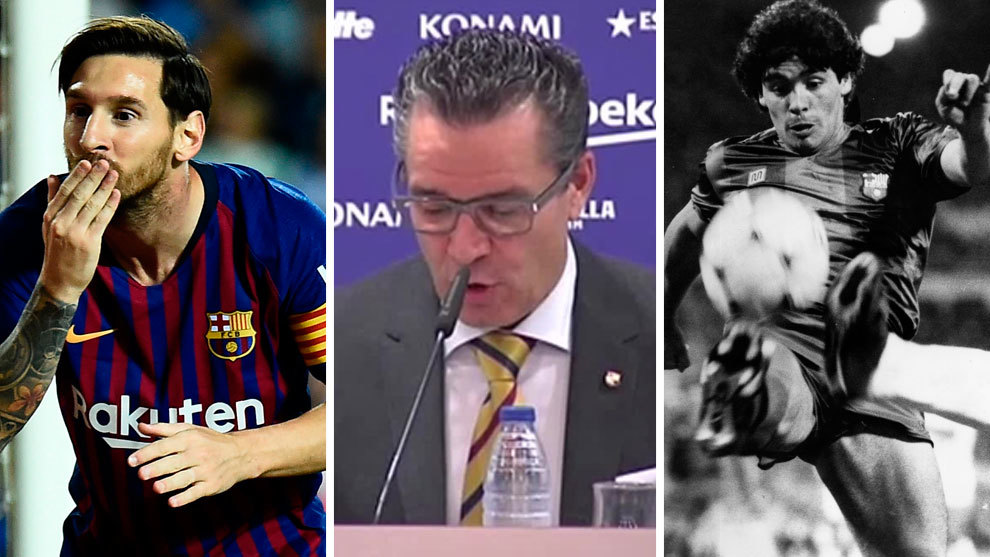 Messi, Josep Vives and Maradona.