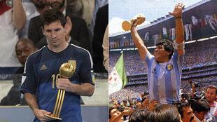Messi and Maradona.