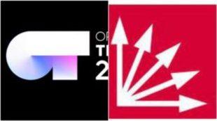 Logotipos de Operación Triunfo 2018 y Falange de las Jons