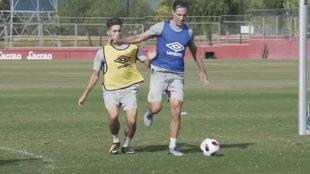 Steve Nash entrenándose con el Mallorca B.