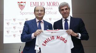 José Castro y José Moro, durante el acto de presentación del...