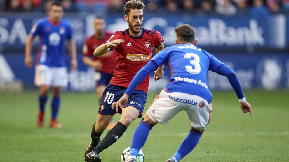 Imagen de un Osasuna-Oviedo de la temporada pasada.