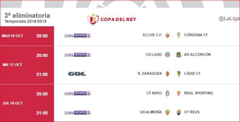 Calendario Copa.Calendario Copa Del Rey 2018 Horarios Donde Ver En Tv Y Resultados