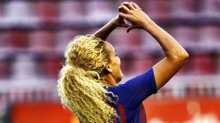 Kheira Hamroaui, autora del primer gol del partido.