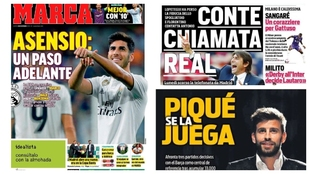 Thursday's headlines feature Asensio, Conte to Real Madrid, Pique...