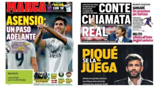 Thursday's headlines feature Asensio, Conte to Real Madrid, Pique and...