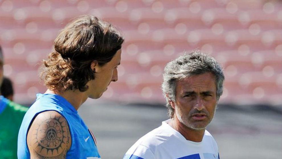 Mourinho e Ibrahimovic, en su etapa en el Inter.