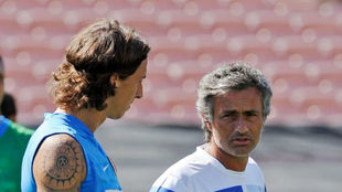 Mourinho and Ibrahimovic, during their time at Inter.