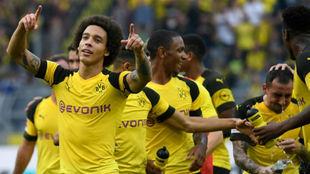 Axel Witsel celebra la victoria sobre el Borussia Dortmund.