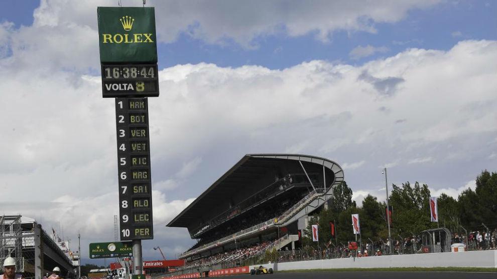 Carlos Sainz, en el Circuit de Barcelona.