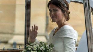 La nieta de la reina Isabel II ha divulgado cuatro fotos de la boda