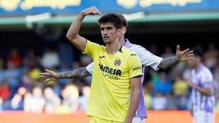 Gerard Moreno, en el partido ante el Valladolid.