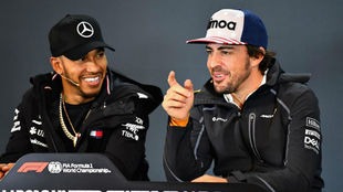 Lewis Hamilton and Fernando Alonso.