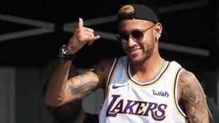 Neymar, en la MEO Rip Curl Pro Portugal de Surf