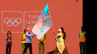 La entrega de la bandera olímpica al nuevo organizador.