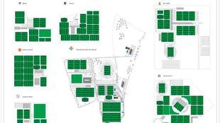 Plano comparativo de la nueva Ciudad Deportiva