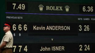 Marcador del Isner-Anderson 2018, el segundo más largo de la historia...