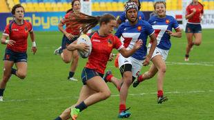Partido de la selección femenina de rugby 7