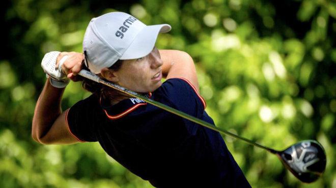 Carlota Ciganda, en el Estrella Damm Mediterranean Ladies Open