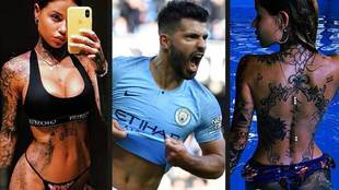 Aguero's mysterious friend is the Italian tattoo queen
